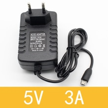 1pcs high quality 5v 3a Micro Usb Ac/dc Power Adapter EU Plug Charger Supply 5v3a For Raspberry Pi Zero Tablet Pc