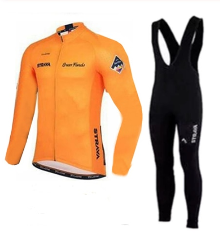 2019 Strava para Hombre Camiseta de manga larga de Ciclismo conjunto de Ropa de bicicleta de MTB Maillot Ropa Ciclismo Hombre Ropa de bicicleta 9D GEL babero Pantalones