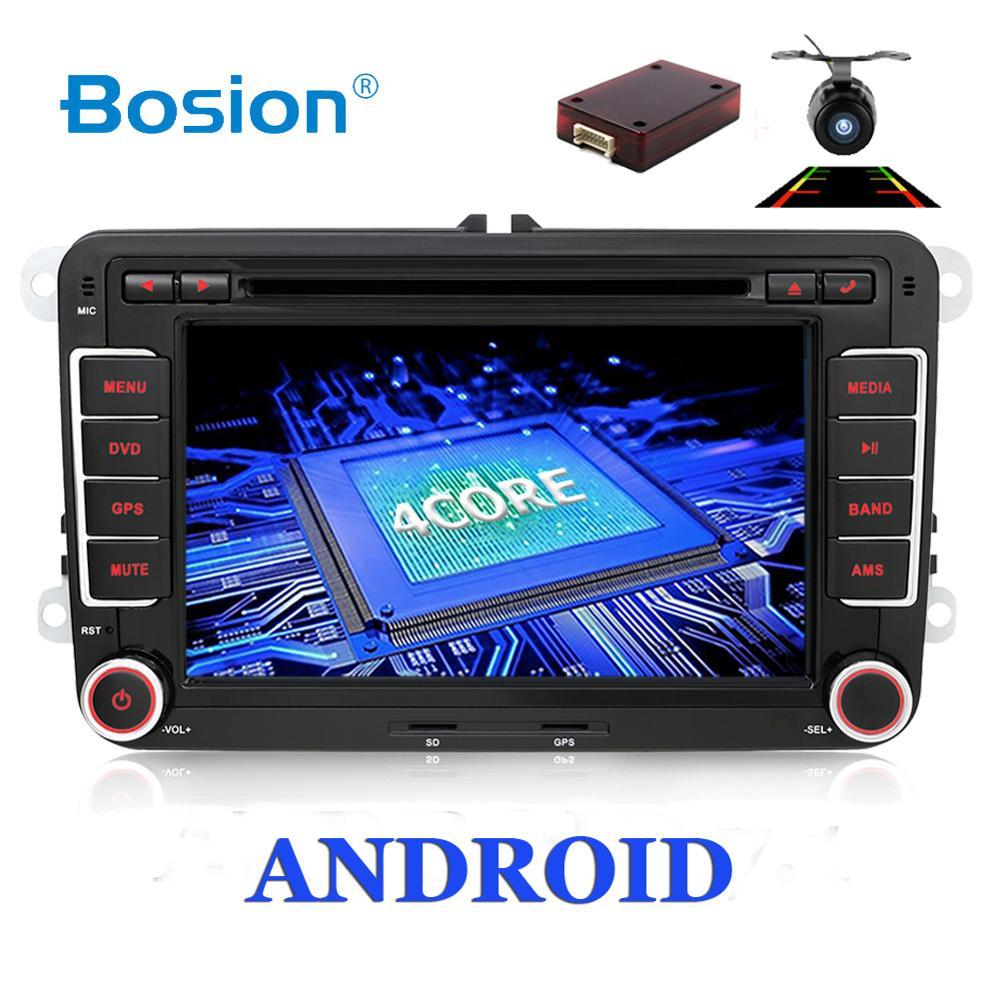 ¡Venta! 2Din Android Audio de coche reproductor de DVD GPS Radio para Volkswage GOLF 6 Polo Bora B6 PASSAT Tiguan SKODA OCTAVIA OBD opcional