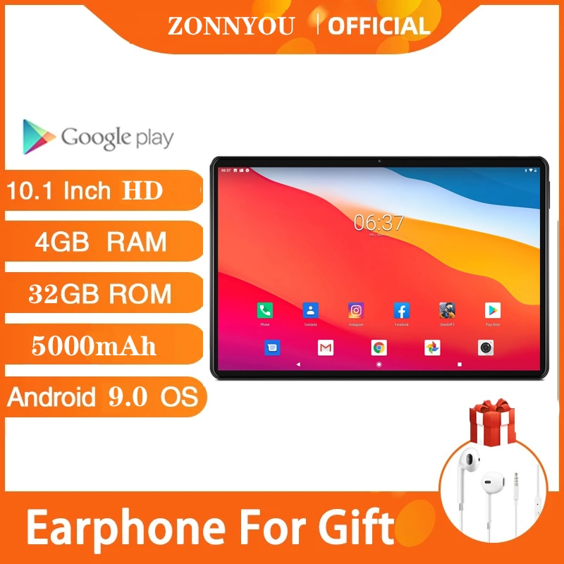 Tablet super rápido com tela hd de 1280x800, 8 núcleos, 4gb ram, 32gb rom, duplo vidro de 9.0 d, 4g fdd lte, android, wi-fi, bluetooth