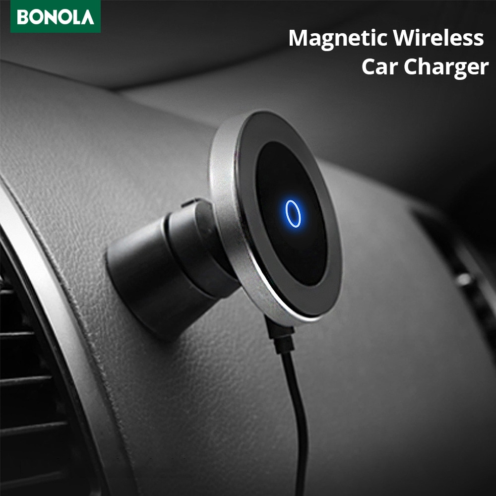 Bonola Car Wireless Charger For iPhone11/11Pro/XsMax/Xr/8plus Qi Magnetic Fast Wireless Car Charger