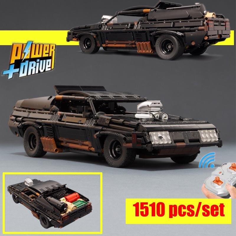 ماكس الأسود المعترض RC العضلات سوبر سيارة MOC-35846 نموذج بناء كتل الطوب المحرك التحكم عن بعد الاطفال اللعب الهدايا