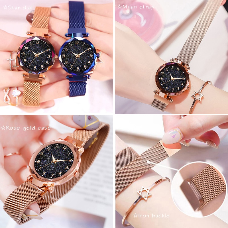 Luxury Women Watches Magnetic Starry Sky Female Clock Quartz Wristwatch Fashion Ladies Wrist Watch reloj mujer relogio feminino enlarge