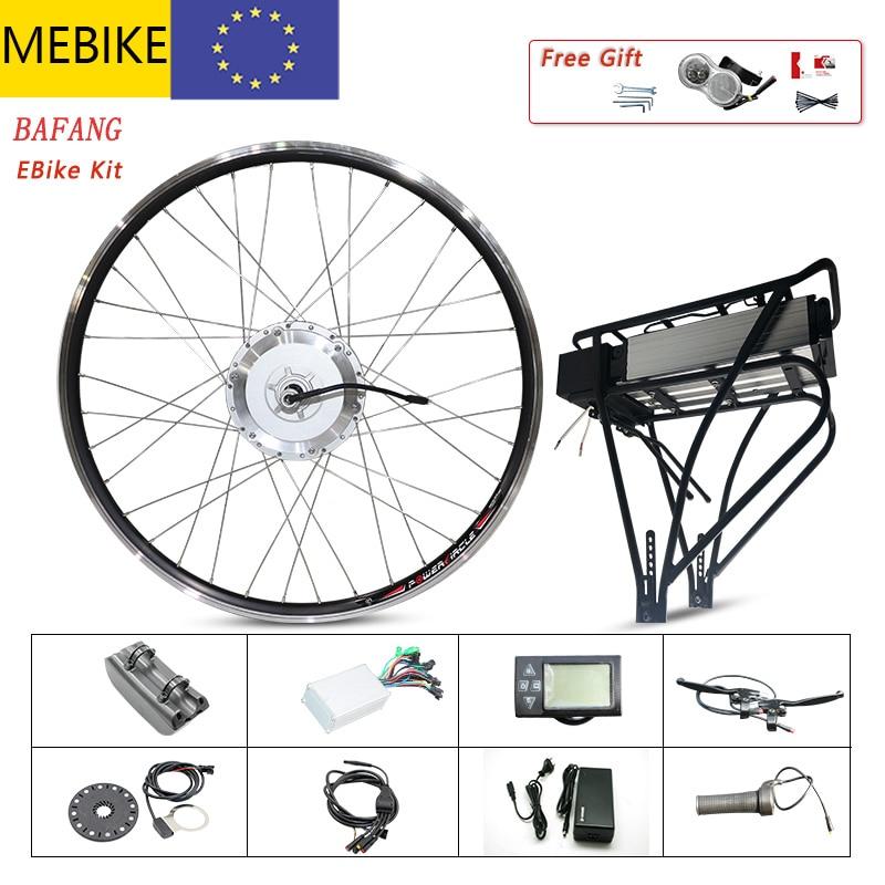 Bafang-Kit de conversión de bicicleta eléctrica, batería de litio de 500w, motor...
