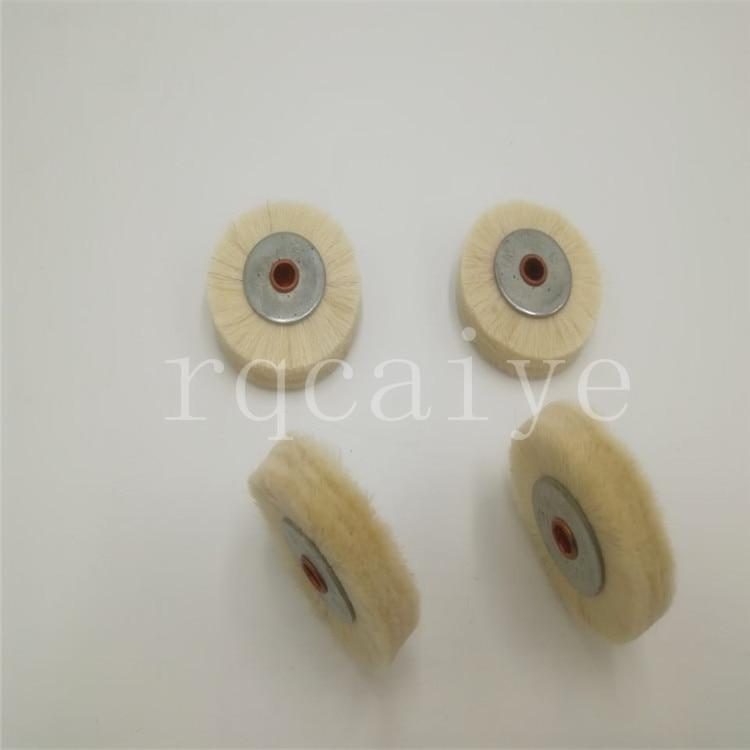 5 piezas Komori Roland blanco alta calidad pelo suave cepillo de núcleo de hierro, rueda de cepillo para la máquina de impresión, tamaño 35*6mm