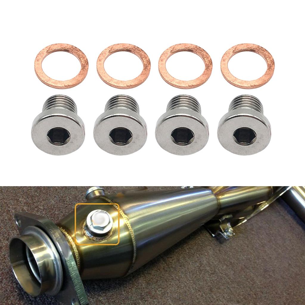 Sensor de oxígeno o2 Lambda, 4 unidades, M12 x 1,25mm, tapón de obturación para motocicletas y coches