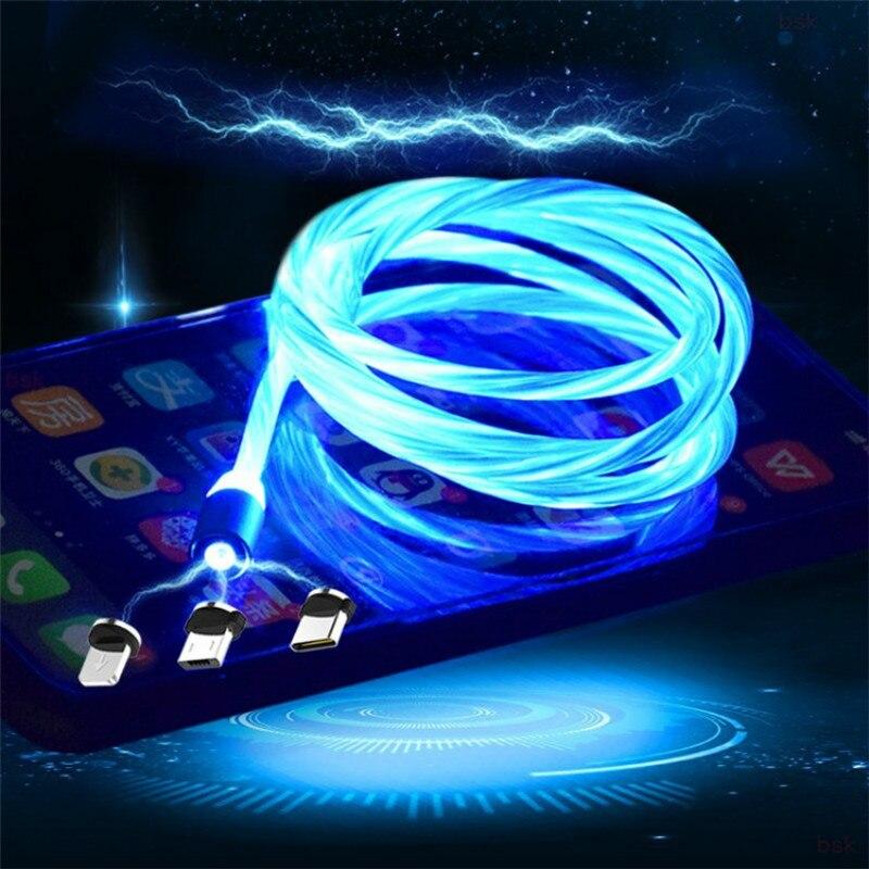 Cable de carga magnética para teléfono móvil, Cable USB tipo C de...