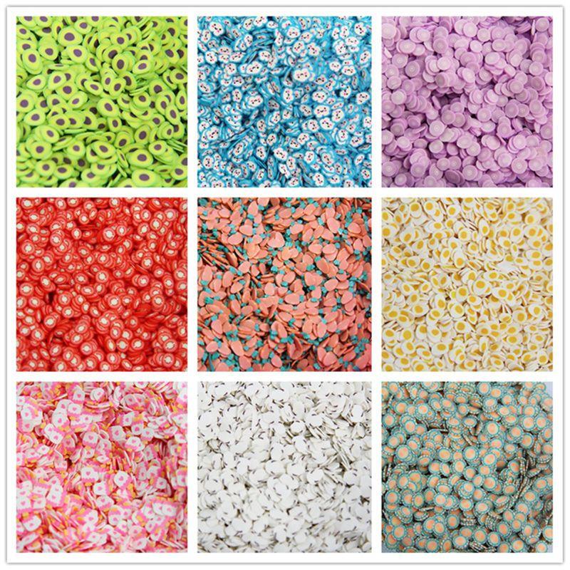 600Pcs Fruit Slices Slime Additives Soft Fimos Slices for Nail Art Beauty A2UB