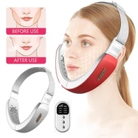 chin v line up lift belt machine blue led photon therapy face lifting slimming vibration massager double chin reducer