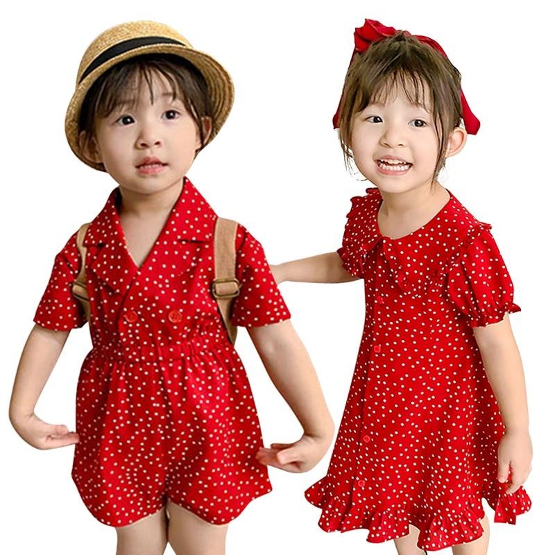 AliExpress - 1-7T Girls Dresses Baby Kids Clothes Jumpsuits Toddler Girl Sweet Dress Polka Dot Jumpsuit Fashion Children's Bodysuit Clothing