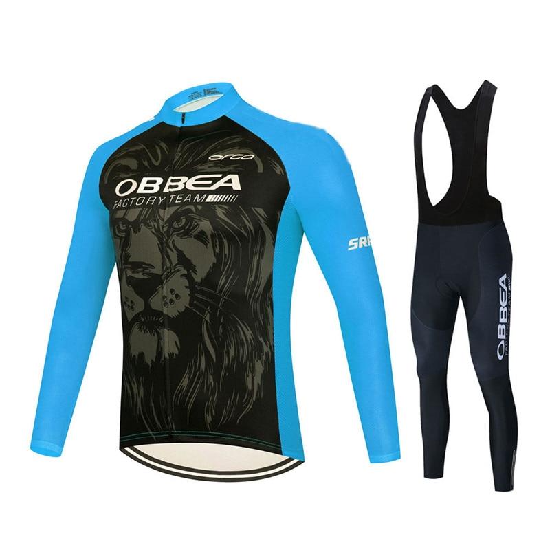 Conjunto de ropa de Ciclismo de manga larga para hombre, Maillot transpirable...