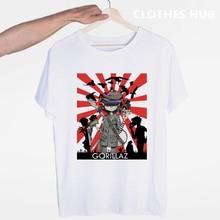 Gorillaz Rock Band ChakaKhan Noodle Murdoc Russel T-shirt O-Neck Short Sleeves Summer Casual Fashion Unisex Men And Women Tshirt