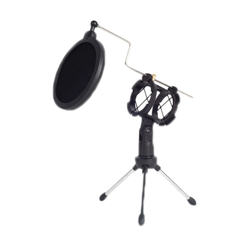 Soporte de micrófono para escritorio con micrófono de filtro Pop-s trípode Mic soporte de montaje de choque soporte de escritorio con filtro
