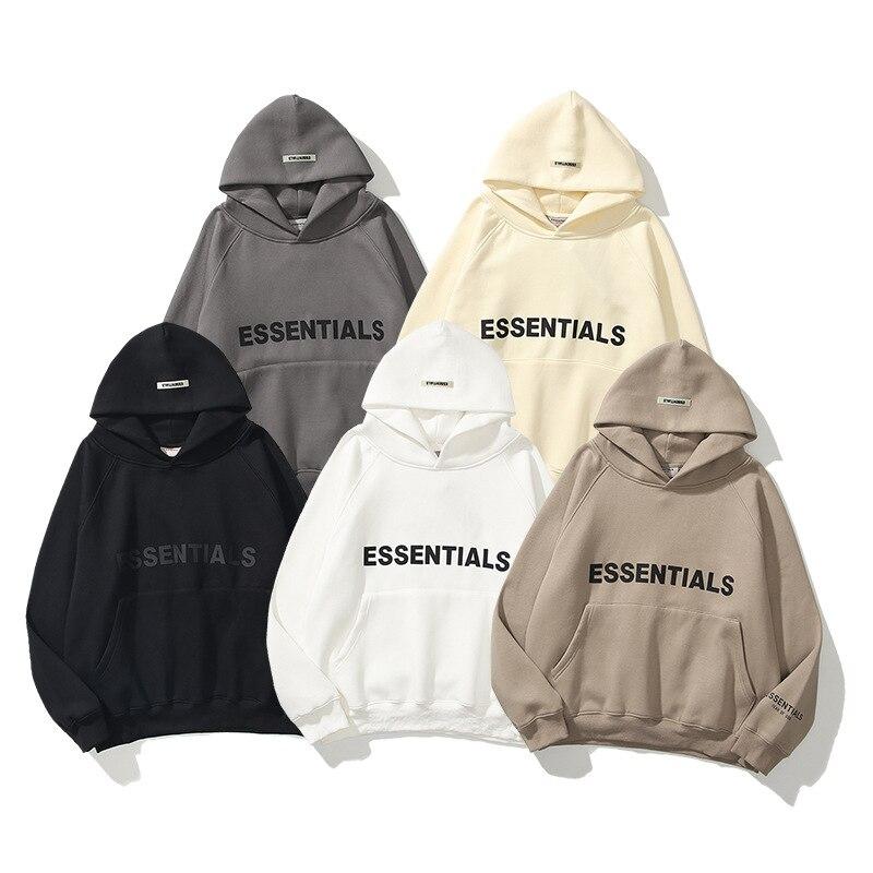 Толстовки Ovesized Essentials 100%, весна-осень, свитшоты для мужчин и женщин, свободные толстовки West Ovesize, базовые толстовки