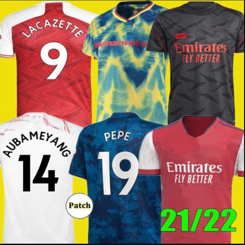 Top Quality 2022 Men shirt Odegaard BELLERIN SAKS XHAKA OZIL PEPE THOMAS 2021 2022 ArsenalES shirt