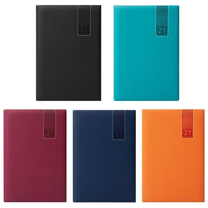 Dizüstü planlayıcısı gündem 2021 günlüğü Cuadernos Y Libretas deri kitap küçük cep Notitieboek not defteri hattı kırtasiye