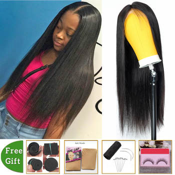 wholesale wig 4x4 lace closure wig Brazilian straight lace front Human Hair Wigs for women non-remy fake scalp wig with bangs