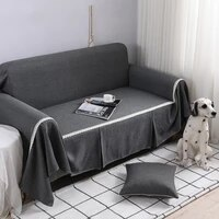 solid all inclusive universal sofa cover dust cover couch home decoration sofa slipcover for living room 1234 seater