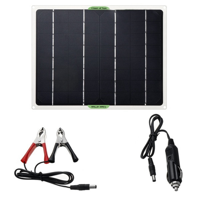 High Efficiency Solar Panel Portable 10W12V5V Mobile Phone QC3.0, Flexible Solar Panel Car Outdoor Emergency Charging