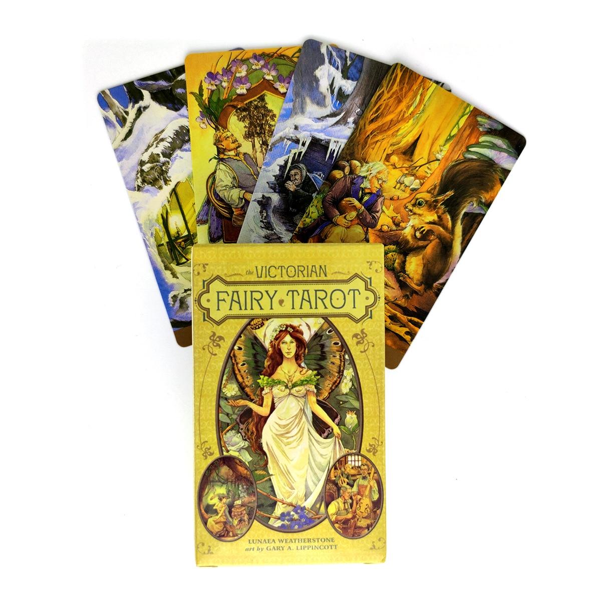 Карты Таро викторианской феи, мистическое руководство, гадание, развлечения, настольная игра, поддерживает оптовую продажу 78 листов в короб...