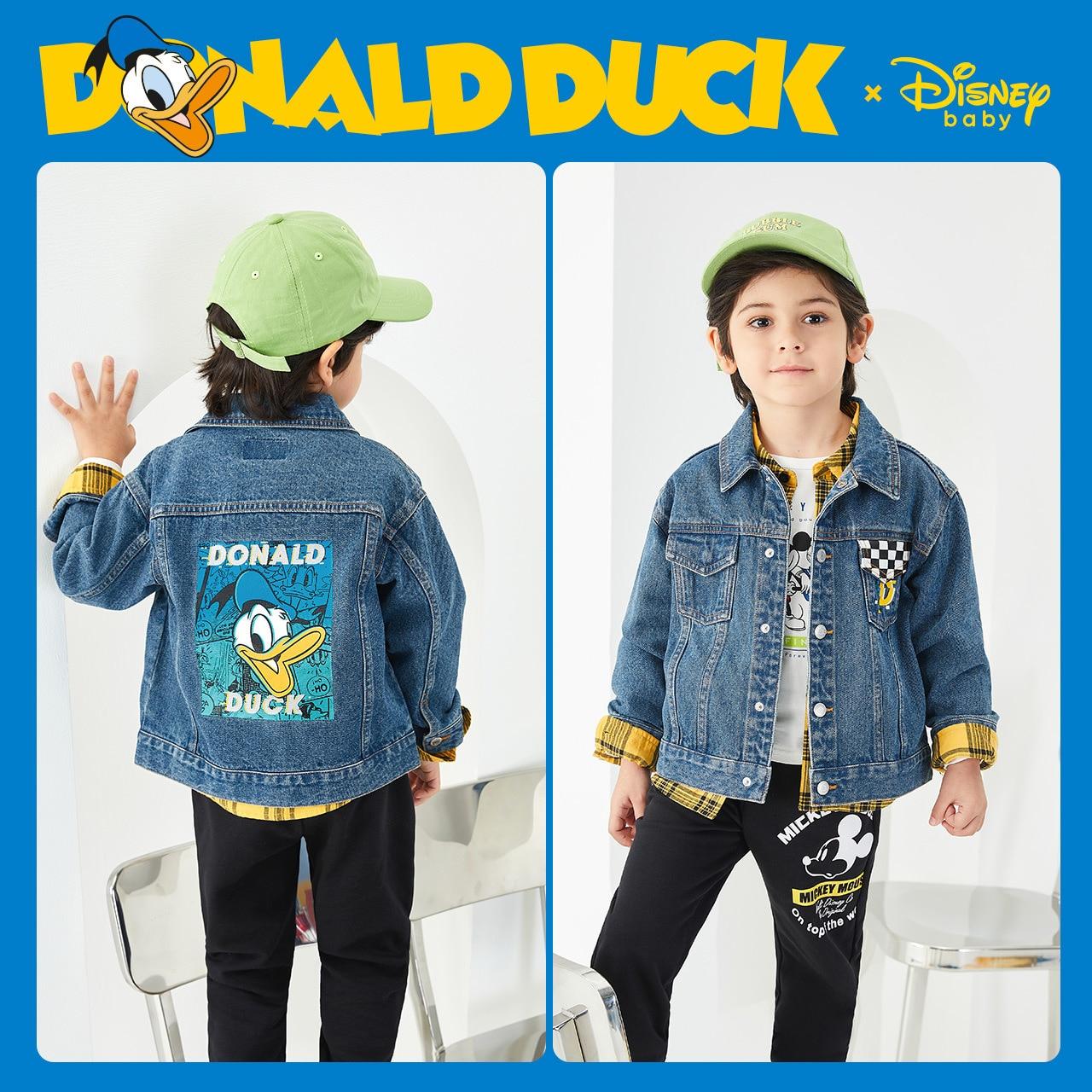 Original Disney Children's Wear 2020 New Boys' Spring And Autumn Cartoon Jeans Jacket Baby Children's Top DB031IE30