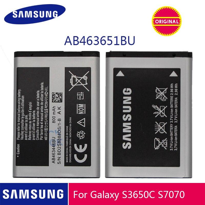 Оригинальная батарея Samsung AB463651BU для Samsung W559 S5620I S5630C S5560C C3370 C3200 C3518 J808 F339 S5296 C3322 GT-C3530 S5610