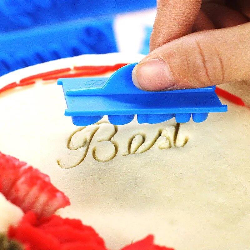 6 Stks/set Alfabet Letter Diy Bakken Cakevorm Koekje Stempel Embosser Fondant Decorating Gereedschap