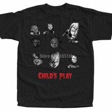 Chucky ChildS Play Movie Poster Mens Vaporwave Shirt Fitness Shirts Retro Shirts Plain T-Shirts Airborne Forces Rttjam