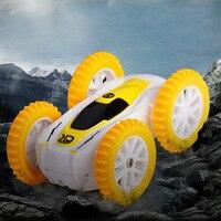 Радиоуправляемая гусеничная машина 2,4G 4WD радиоуправляемая внедорожная двухсторонняя трюковая машина мини-размер Дрифт Багги радиоуправля...