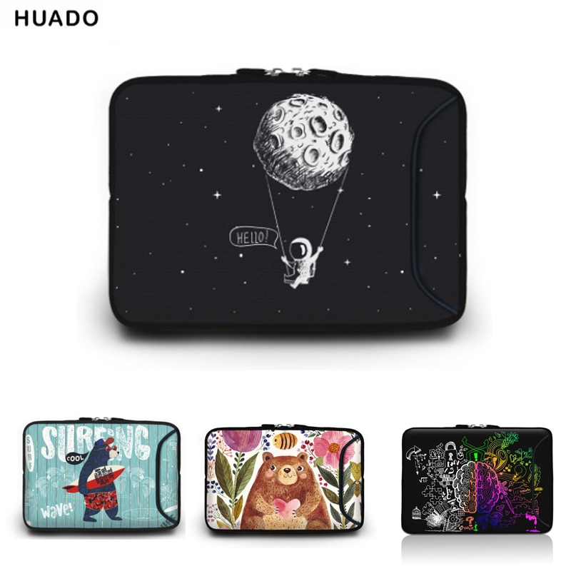 Portable Laptop Bag For Macbook 10 11.6 13.3 14.4 15.4 15.6 17 17.3 inch Netbook Zipper Sleeve Case