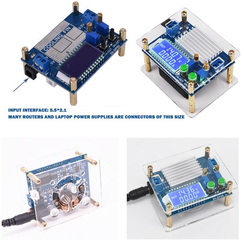 Regulador de tensión regulable DC a DC 5,5 V-30V a 0,5 V-30V módulo de fuente de alimentación tablero convertidor reductor de voltaje con funda