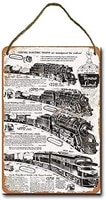 metal sign 8 x 12 inch 1952 lionel electric trains wall decor hanging sign