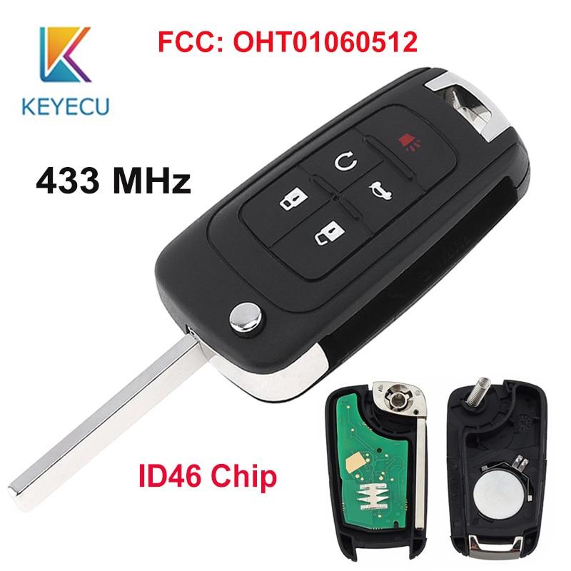 KEYECU para Chevrolet 2010-2016 GMC Camaro Cruze equinoccio Malibú sin llave-llave de control remoto botón 5 433MHz para Buick FCCOHT01060512