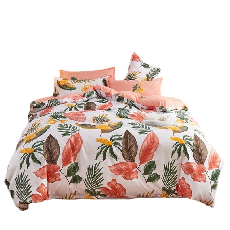 الحديثة الشمال ورقة طباعة طقم سرير أغطية سرير واحد مزدوج الملكة الملك لحاف يغطي المفارش حاف مجموعة غطاء مع المخدة