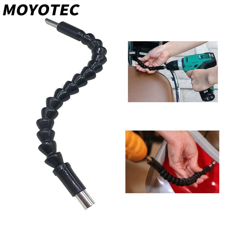 1 4 extension screwdriver drill bit flexible shaft bit holder connecting link MOYOTEC 1/4 Inch Flexible Shaft Extention Screwdriver Bit Flexible Connecting Link Power Tool Holder Connect Link Hex Shank
