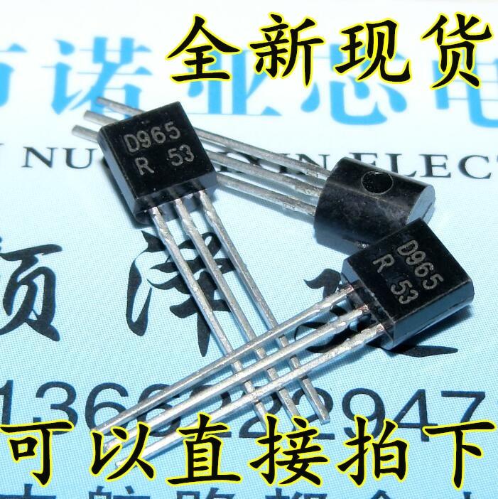 50 unids/lote Transistor 2SD965 D965 5A 20V 1W Transistor a-92