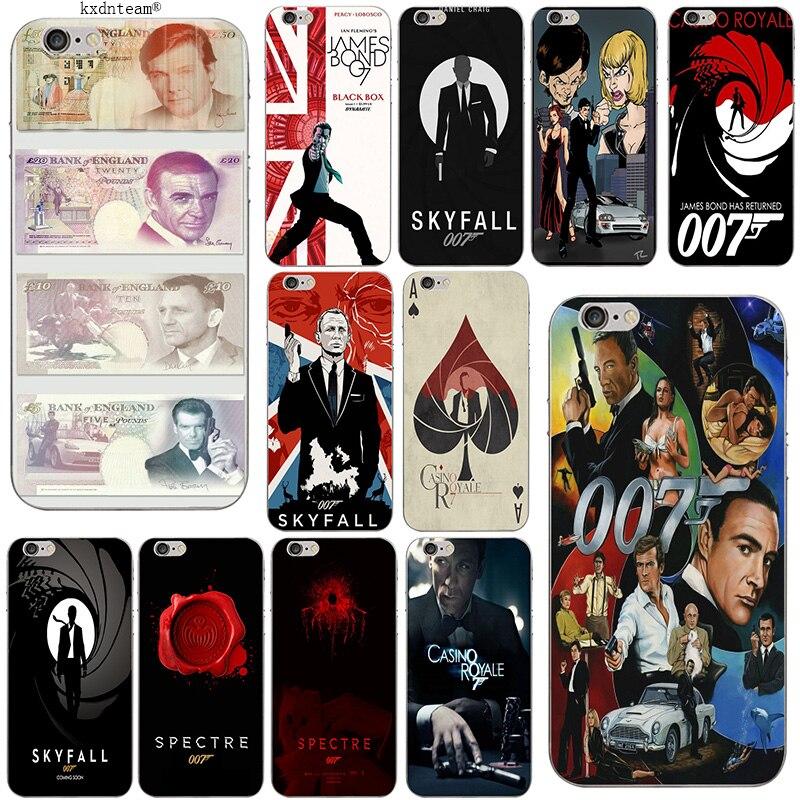007 james bond Soft Slim Phone Cases TPU Silicon Transparent Cover for iPhone 8 7 6 6S Plus X 5 5S SE 5C 4 Shell Coque Fundas