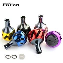 Ekfan 38mm liga de alumínio carretel de pesca lidar com botões para fiação carretéis pesca equipamento acessório