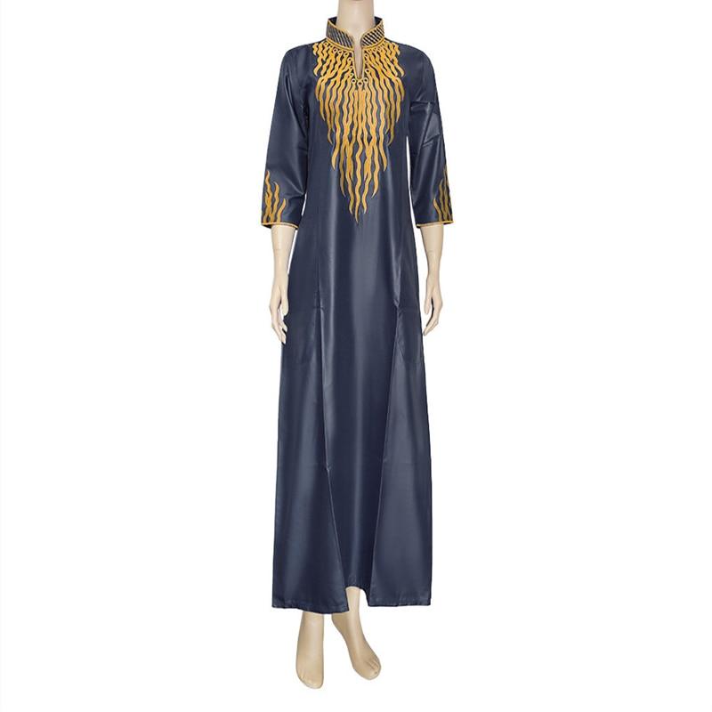 Vestido Bubu tradicional africano para mujeres Maxi kaftanes musulmana vestido de cera Jalabiya bordado nigeriano Bazin Riche vestidos mujeres