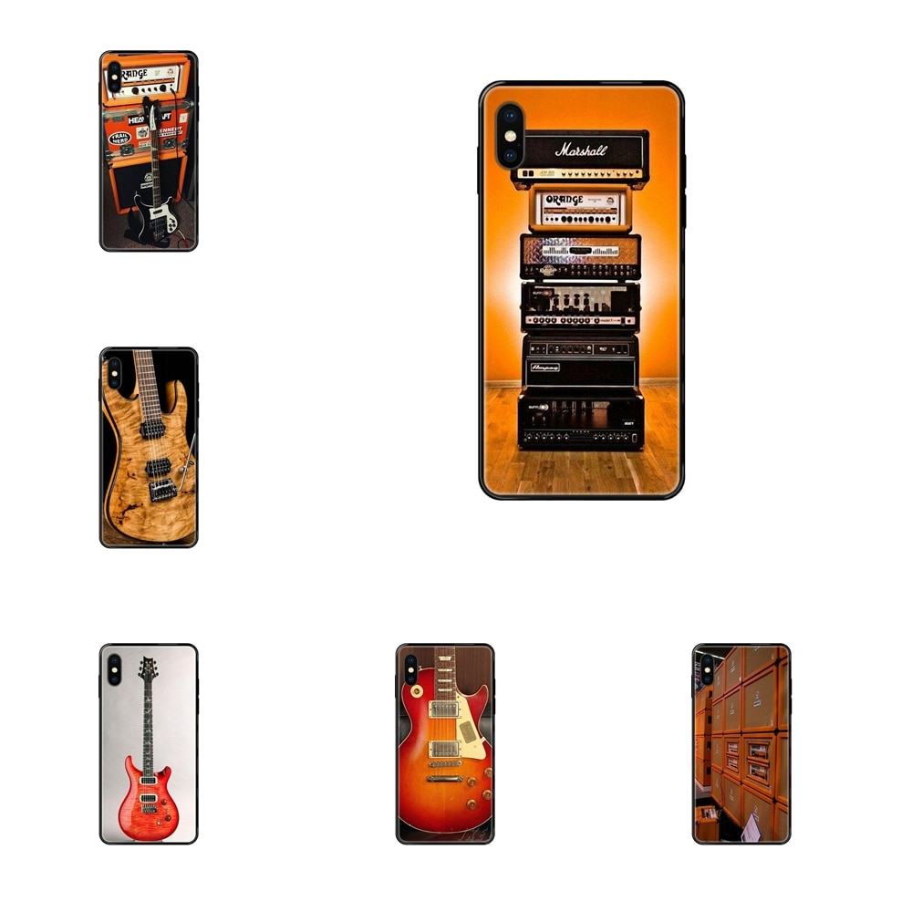 Amplificador eléctrico de TPU suave para guitarra, calidad Diy, colorido, negro, naranja,...