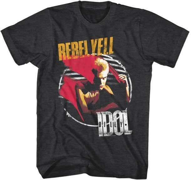 Billy Idol grito rebelde T camisa Punk Rock música 022439.