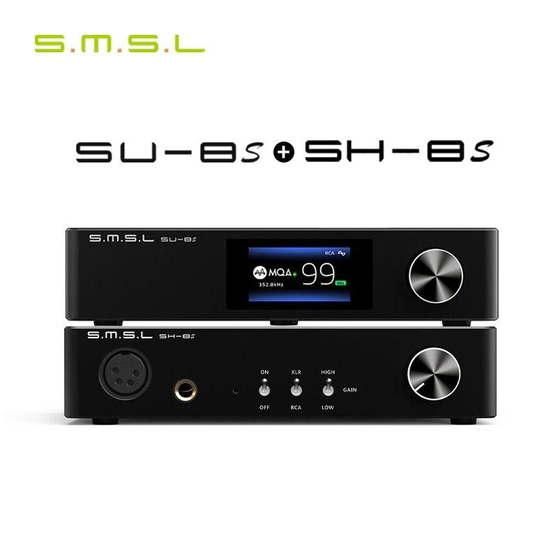 SMSL SU-8S MQA فك + SMSL SH-8S مضخم ضوت سماعات الأذن SU8S SH8S كومبو