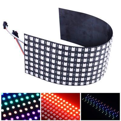 Panel Led RGB WS2812b, pantalla de módulo de matriz 8x 8/8x3 2/16x16 píxeles, pantalla de píxeles a todo Color, disipador de calor LED Digital DIY, tablero led