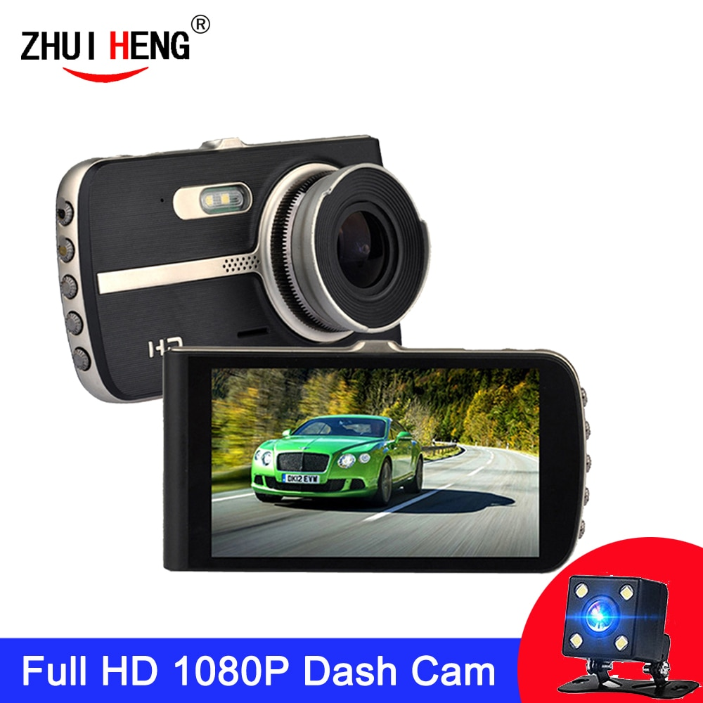 Car DVR Dash Camera Rear View Dual Lens 1080P 4