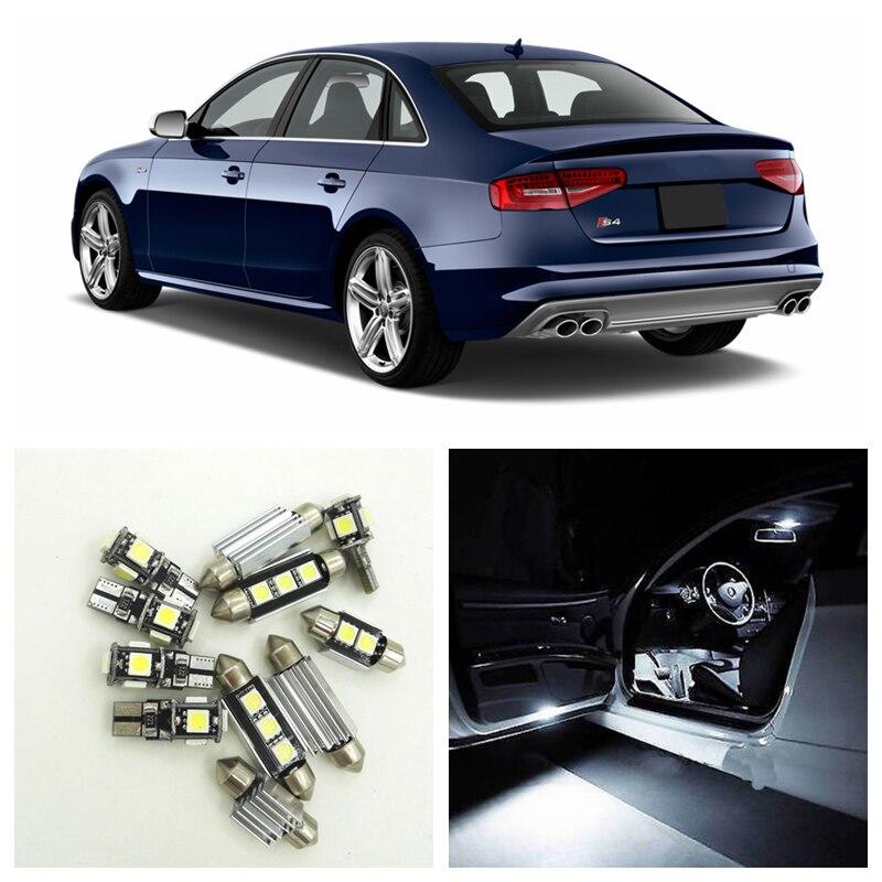 20x Car Interior Light Led for Audi S4 RS4 B8 A4 Avant 2008 2009 2010 2011 2012 2013 Dome Ceiling Roof Map Door Trunk Light Bulb