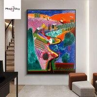 Ретро David Hockney репродукции выставка Николс Каньон Peinture Холст Плакат Картина маслом Wall Art Фото домашний декор гостиной