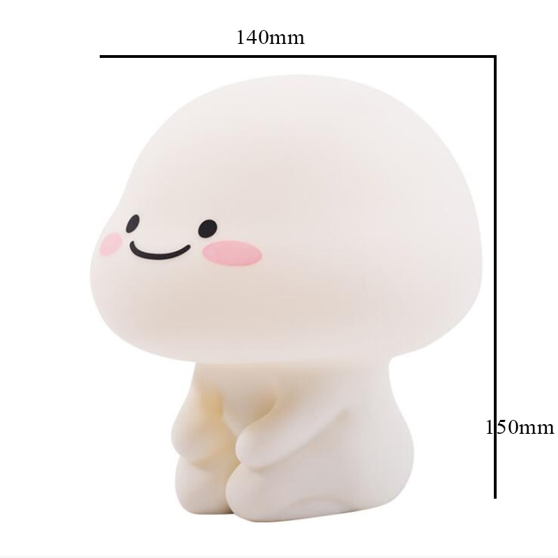 Touch Switch Baby Night Lamp USB Rechargeable Cute Carton Children Night Light Silicone Timer Player Toy Decor Home TableBedroom  - buy with discount