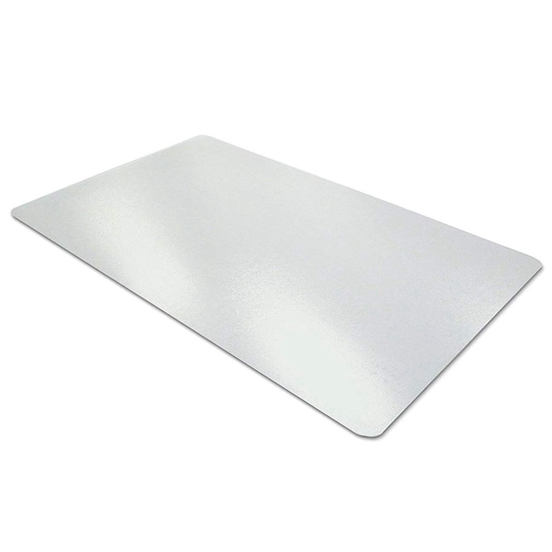 Almohadilla transparente para escritorio, estera de escritura suave de PVC con textura antideslizante de 35,5X17,7 pulgadas-Protector de escritorio de bordes redondos