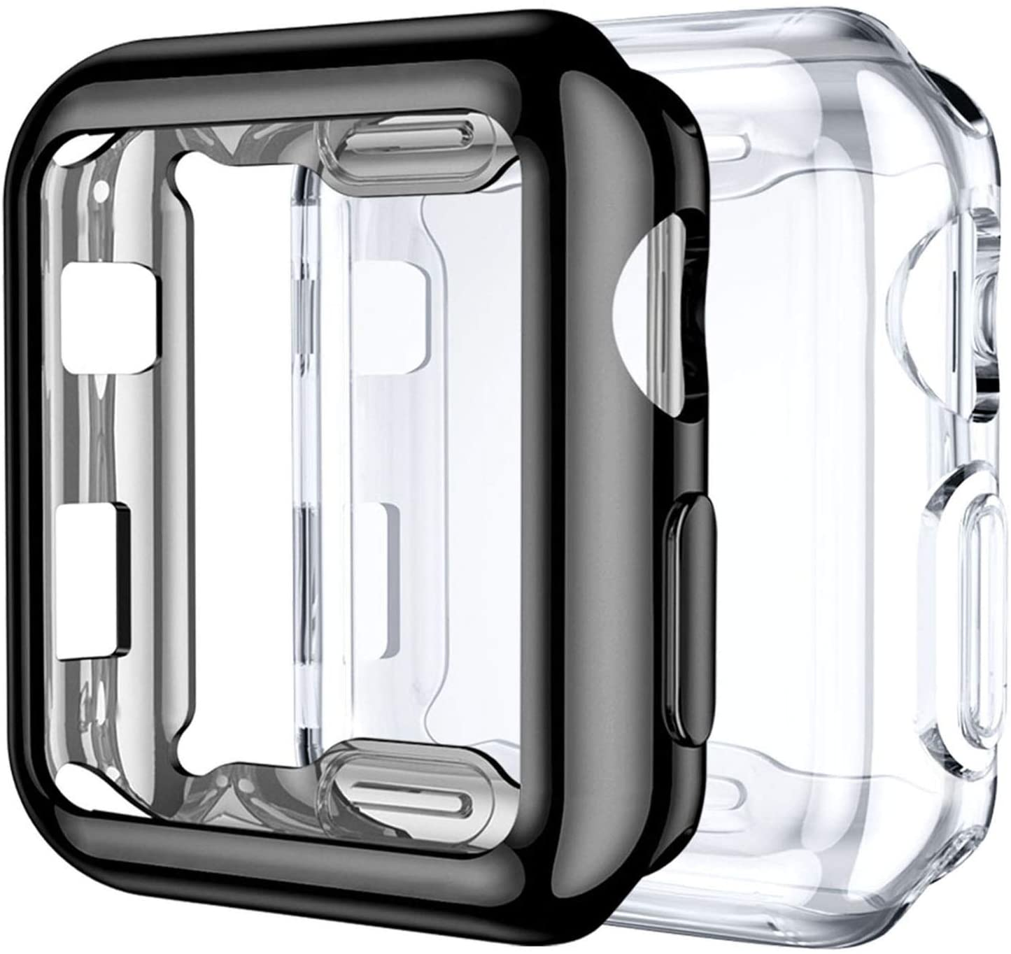 Compatible with Apple Watch Series 1/2/3 screen protector 38mm, 42mm 40mm 44mm soft TPU full cover protective cover