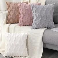 fur decorative soft cushion cover pillow case sofa plush pillowcase living room decoration nordic hug throw covers home decor
